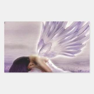 angel crying.jpg rectangular sticker