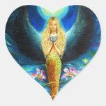 Ángel curativo pegatina de corazon