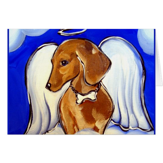 Angel Dachshund Card