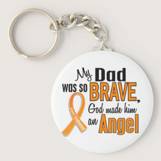 Angel Dad Leukemia Keychain