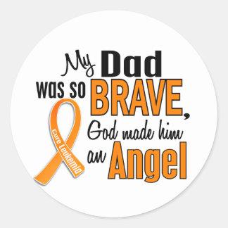 Angel Dad Leukemia Stickers