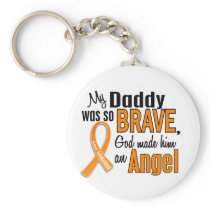 Angel Daddy Leukemia Keychain