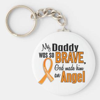 Angel Daddy Leukemia Keychain