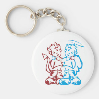 Angel & Daemon Keychain