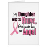 Angel DAUGHTER Breast Cancer T-Shirts & Apparel Greeting Card