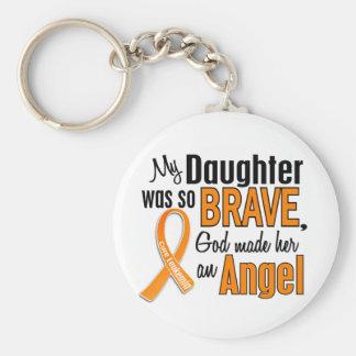 Angel Daughter Leukemia Keychain