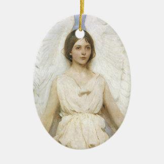 Ángel de Abbott Thayer, bella arte del Victorian Adorno Ovalado De Cerámica