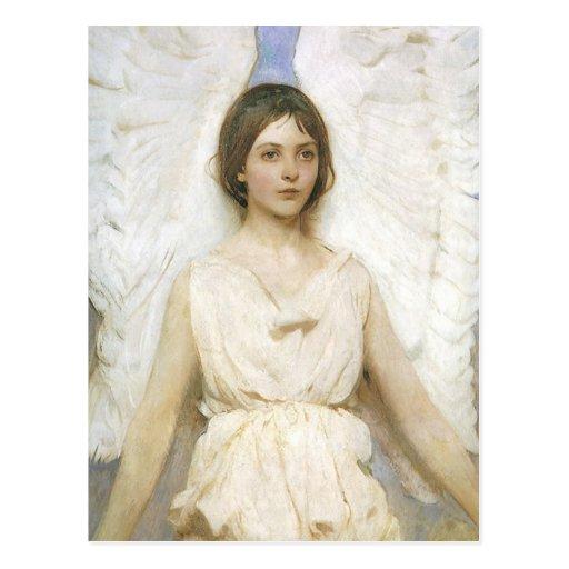 Ángel de Abbott Thayer, bella arte del Victorian Tarjetas Postales