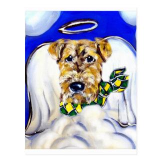 Ángel de Airedale Terrier Tarjeta Postal