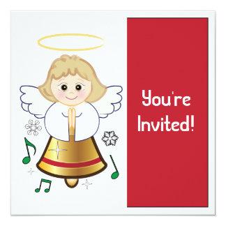 Ángel de Bell de la invitación de la fiesta de