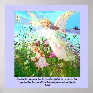 Ángel de dios, mi guarda querido póster