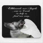 Ángel de Elkhound Alfombrillas De Ratón
