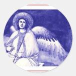 Ángel de Giotto Pegatina Redonda