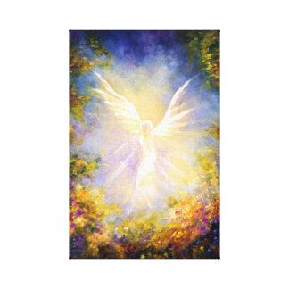 """Ángel de guarda de descenso del """"ángel"""" que descie impresión en lona"""