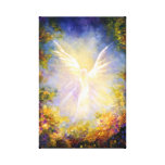 """Ángel de guarda de descenso del """"ángel"""" que descie lienzo envuelto para galerías"""