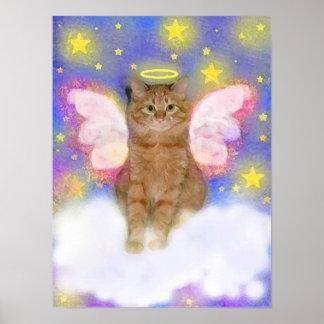 Ángel de guarda de gatos impresiones