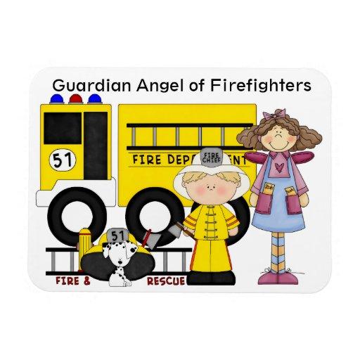 Ángel de guarda de los bomberos - SRF Imán Flexible