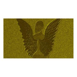 Ángel de guarda de oro tarjetas de visita