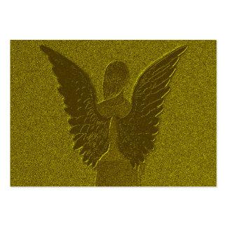 Ángel de guarda de oro tarjetas de visita grandes