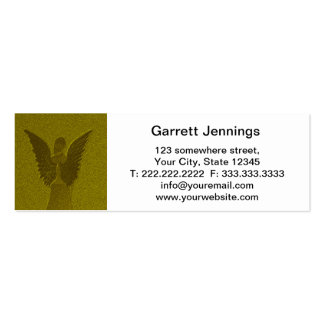 Ángel de guarda de oro tarjetas de visita mini