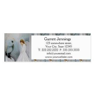 Ángel de guarda del cuidado y búho blanco tarjetas de visita mini
