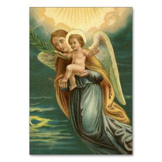 Ángel de guarda del navidad y bebé Jesús