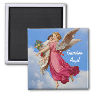 Ángel de guarda e imán inspirado del niño