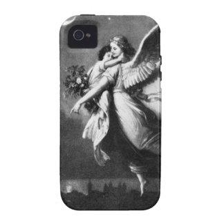 Ángel de guarda en la noche iPhone 4 carcasa