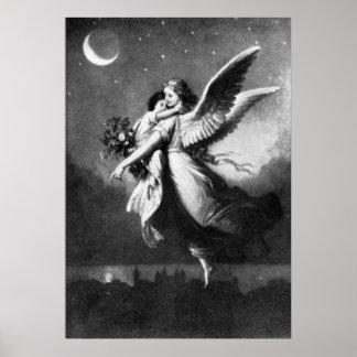 Ángel de guarda en la noche posters