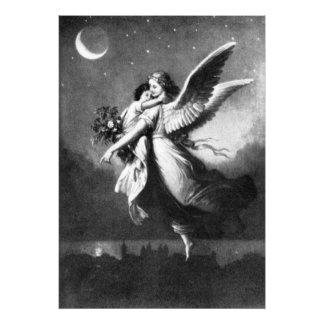 Ángel de guarda en la noche fotografias