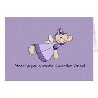 Ángel de guarda para el enfermo de cáncer tarjeta de felicitación