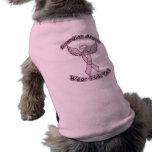 Ángel de guarda rosado de la cinta ropa macota