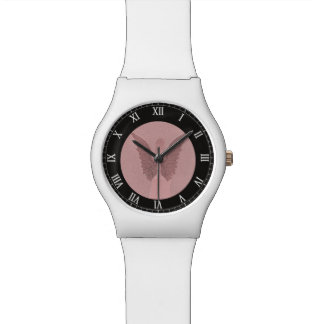 Ángel de guarda rosado relojes