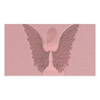 Ángel de guarda rosado tarjetas de visita