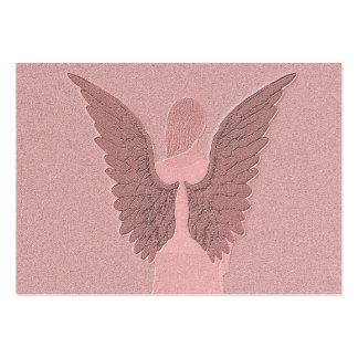 Ángel de guarda rosado tarjetas de visita grandes