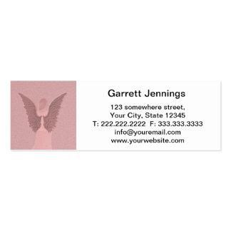 Ángel de guarda rosado tarjetas de visita mini