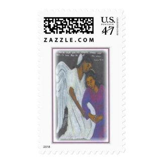 Ángel de guarda sello postal