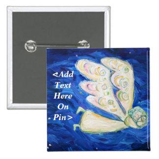Ángel de guarda y mensaje de encargo del botón del pin