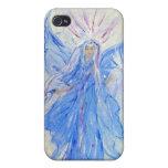 Ángel de hadas azul bendecido del hogar iPhone 4 funda