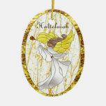 Ángel de Halleluiah en vitral Adorno De Navidad
