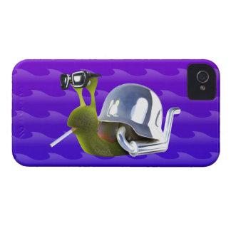 ángel de infiernos del caracol del motorista 3d carcasa para iPhone 4 de Case-Mate