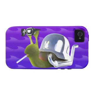 ángel de infiernos del caracol del motorista 3d Case-Mate iPhone 4 fundas