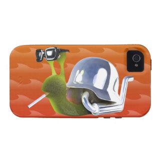 ángel de infiernos del caracol del motorista 3d iPhone 4/4S fundas