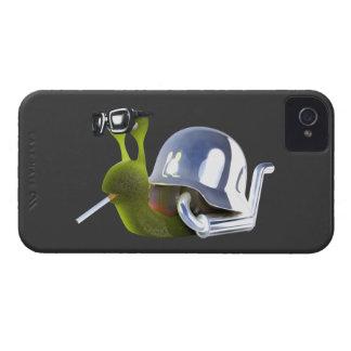 ángel de infiernos del caracol del motorista 3d iPhone 4 Case-Mate cobertura