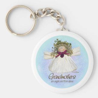 Ángel de la abuela - azules llaveros personalizados