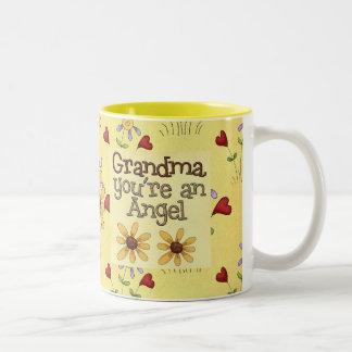 Ángel de la abuela tazas de café