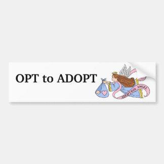 Ángel de la adopción pegatina para auto