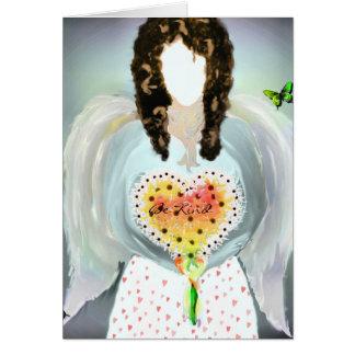 Ángel de la amabilidad tarjeta de felicitación