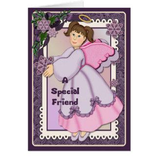 Ángel de la amistad del navidad - verso dentro tarjeta de felicitación