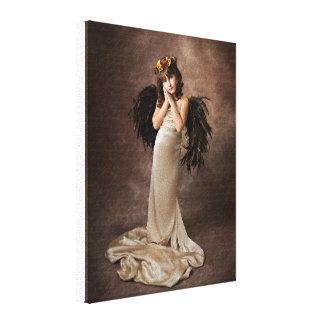 Ángel de la angélica impresión de lienzo